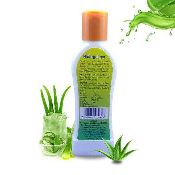 Nisargalaya fresh hand sanitizer